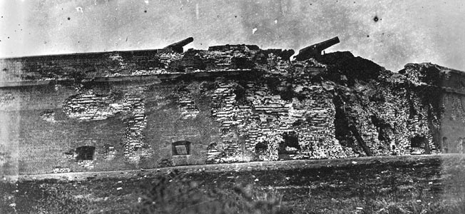Fort Pulaski, guarding Savannah, Georgia, was breached by constant fire from the Union's new Parrott Rifle artillery in 1862. Federal leaders hoped to use the success there as a blueprint for their Charleston efforts.