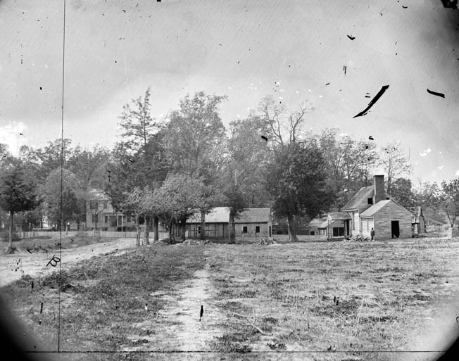 Mechanicsville, Virginia, photographed in 1862, was a small hamlet on the high ground overlooking the Chickahominy River. Brig. Gen. Fitz John Porter's 27,000-man V Corps was stationed there.