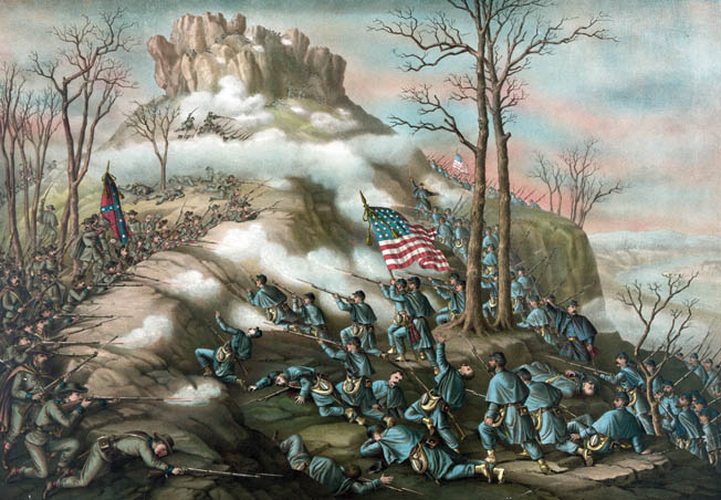 Conflicting orders from his superiors resulted in  Wlodzimierz Krzyzanowski's  brigade sitting out the Battle  of Lookout Mountain in  November 1863, but it did participate in the general assault on Missionary Ridge.