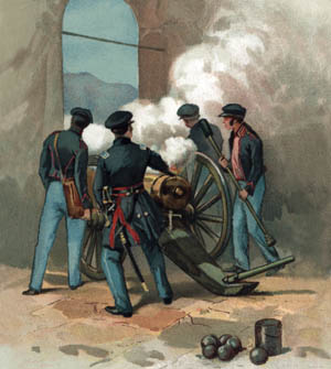 Lieutenant Ulysses S. Grant and his artillery crew heroically carried a disassembled howitzer to the top of a church belfry and, after reassembling it, began shelling the defenders of the San Cosme Gate. On the morning of September 14, Scott was informed that Santa Anna and his men had fled the city.