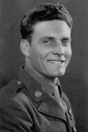 Private George S. Baragona, Service Company, 507th Parachute Infantry Regiment, killed at Graignes.