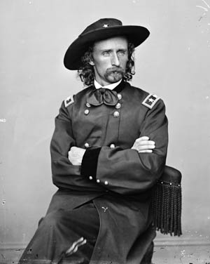 Maj. Gen. George Armstrong Custer alertly led his cavalry at Appomattox.
