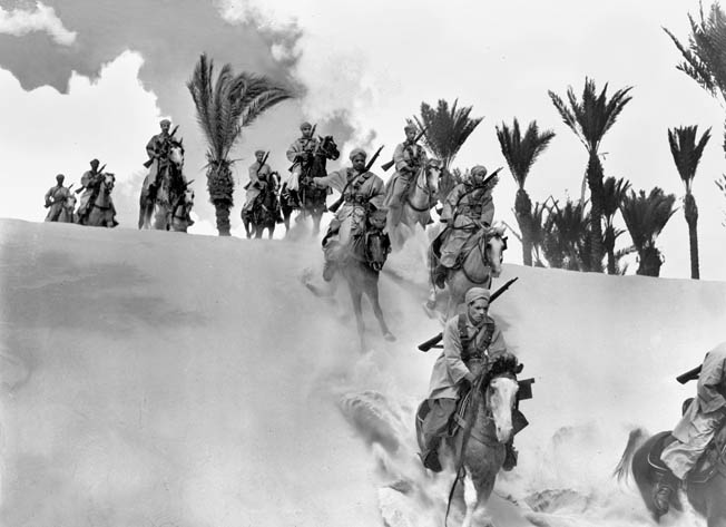 Skilled horsemen, these desert soldiers from Algeria were among many from that French North African colony that joined de Gaulle, Leclerc, and the Free French cause during the dark days of 1940.