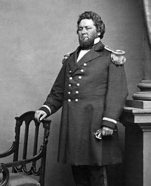 "An imposing Maj. Gen. William ""Bull"" Nelson poses for an official photograph. At six feet, four inches tall and over 300 pounds, he was one of the largest generals in either army."