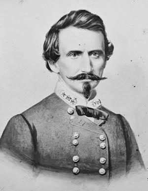 Confederate Brig. Gen. Benjamin McCulloch, refused to take part in Sterling Price's Missouri campaign.