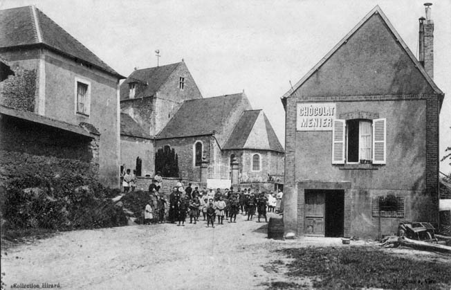 A prewar view of Graignes with the 12th-century Roman Catholic church in the background. Most of the town was destroyed during the battle.