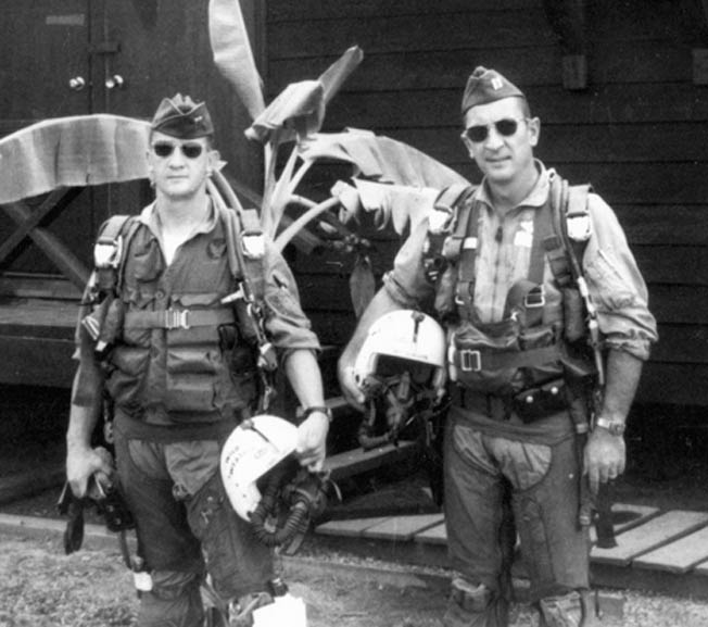 Captains Allen Lamb and Jack Donovan before their historic mission in 1965.