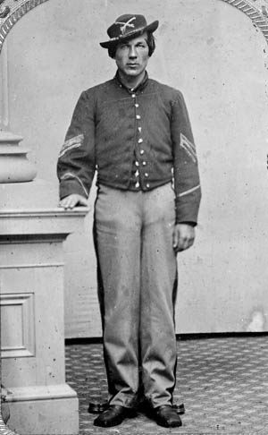Union Sergeant Joshua P. Graffam, of the 1st Maine Cavalry was killed at the Battle of Dinwiddie Court House a week before Sayler's Creek. His regiment was part of Maj. Gen. George Crook's cavalry division.