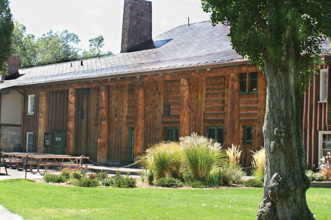 The Fuller Lodge was part of the private Los Alamos Ranch School before being taken over by the Army in 1943 and converted for use by A-bomb scientists. Today the facility is a museum and art center.