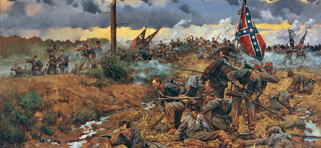 With Confederate forces in full retreat, alert Union forces charged through a gap in the Rebel column, capturing 8,000 soldiers at Sayler's Creek.