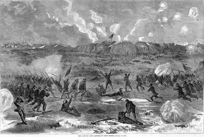 "After giving the fort's defenders a brief reprieve, Union forces commence the final assault on January 15. ""The air seemed darkened with death,"" Confederate Colonel William Lamb reported."