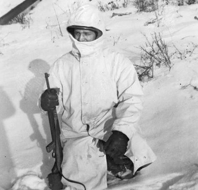 """We are now getting big, fur-lined, white overcoats,"" wrote T/5 Glenn Kappelman in a letter home dated January 19, 1945. Kappelman added, ""They also have a big hood and are really warm too. One can't be seen easily in the snow in white."""