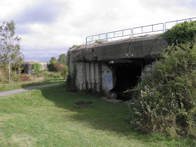 A gun casemate at Mont Canisy, the highest point along the Normandy coast, was part of a battery that guarded the sea approaches to the port of Le Havre.