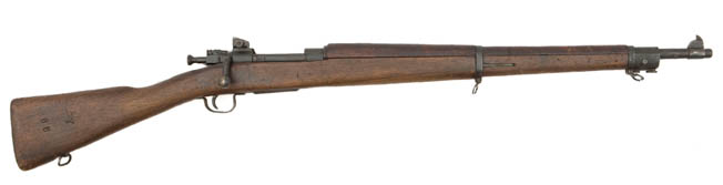WW II-era M1903A3 Springfields were used while M1 Garands were in short supply.