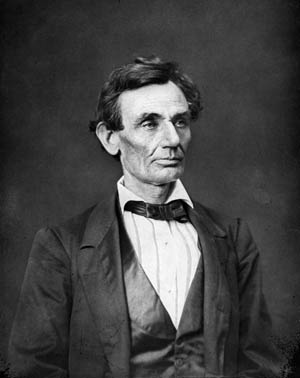 """Abraham Lincoln said of this photograph, taken in 1860 in his adopted hometown of Springfield, Ill., """"That looks better and expresses me better than any I have ever seen."""" It was the Lincoln the North would elect president that fall."""