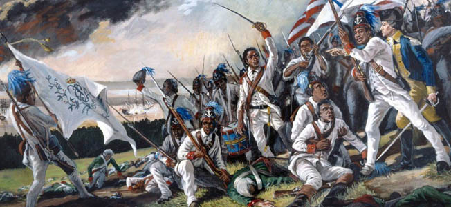 "One regiment that stands out for its number of African American Revolutionary War heroes is the 1st Rhode Island regiment, colloquially referred to as the ""black regiment."""