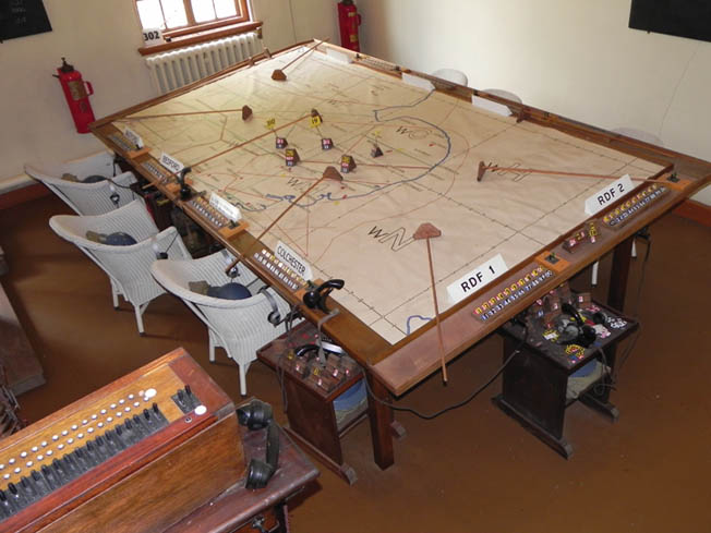 Duxford's Battle of Britain operations room retains its 1940s appearance in every detail.