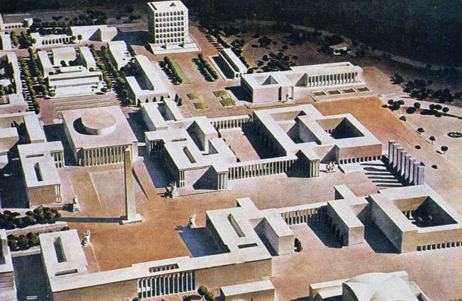 A scale model showing what EUR would have looked like had it been completed.