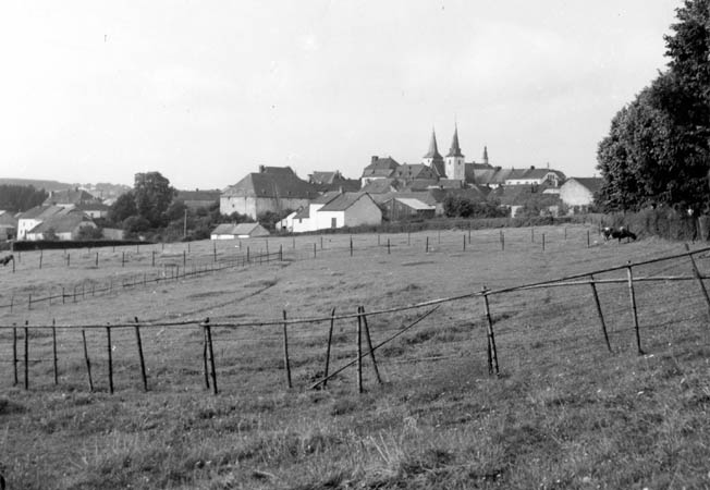 The quiet Luxembourg village of Hosingen before the battle.