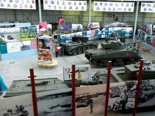 Although big and ugly, military tanks have a special attraction for fans of the steel behemoths. Here the Bovington Tank Story Hall provides, in photos and real examples, the history of armored warfare.