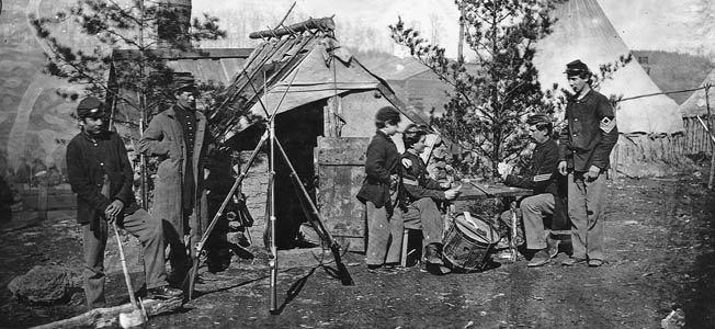 Before the fighting even began, the Union Army of the Potomac during the Civil War had to create their own precarious living quarters.