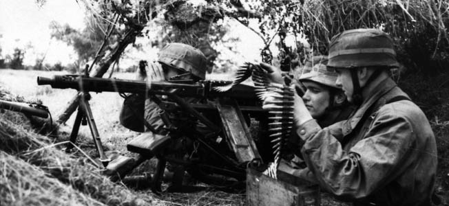 "Nicknamed ""Hitler's Zipper,"" the MG 42's ominous and terrifying ""ripping cloth report"" announced to all the presence of the best machine gun available."