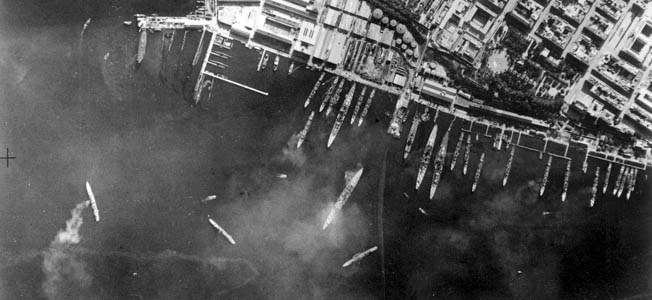 The British surprise attack during the Battle of Taranto bears a striking resemblance to the Japanese attack on Pearl Harbor just a year later.