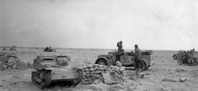 In Tunisia 1942, Rommel seemingly was trapped between American forces advancing to block his retreat and British forces in hot pursuit to his rear.