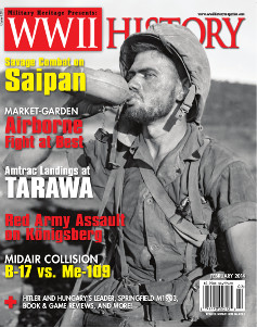 The February 2014 issue of World War II History Magazine.