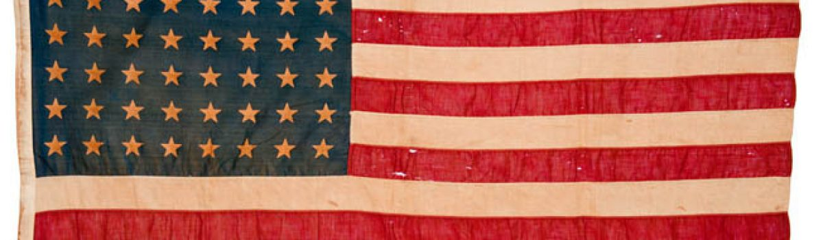 Flags from World War I, World War II and the American Civil War