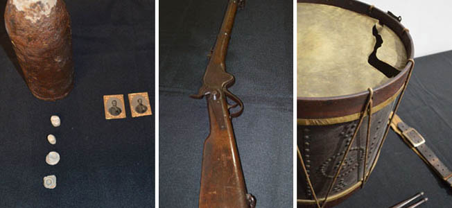"These pictures depict items in a new special exhibit at the Southern Museum of Civil War and Locomotive History, ""1864."""