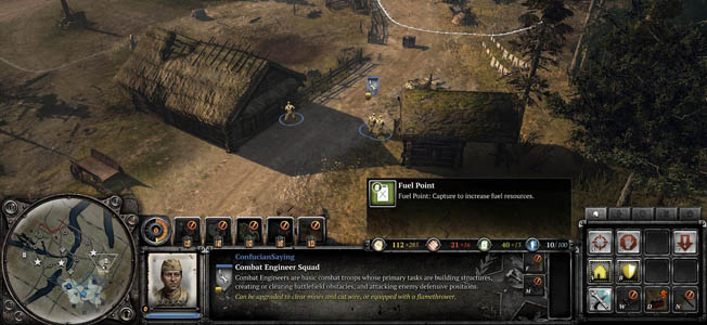The TrueSight system in Company of Heroes 2 provides a more realistic representation of battle space awareness and a soldier's perception on the battlefield.