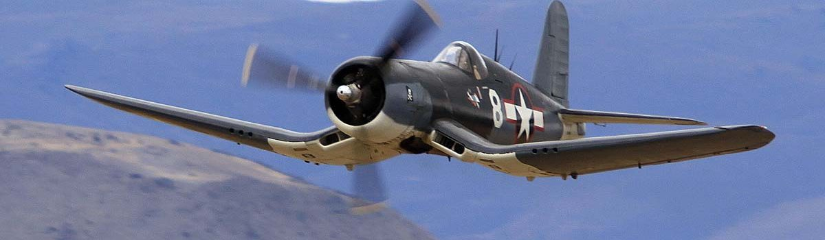 Literally Cutting Down Your Enemy in a Vought F4U Corsair