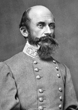 Confederate general Richard Ewell at Gettysburg