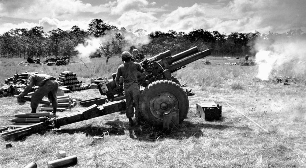 artillery support at the Battle of Ia Drang