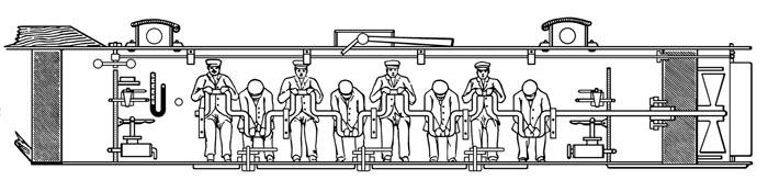 Diagram os submarine Hunley