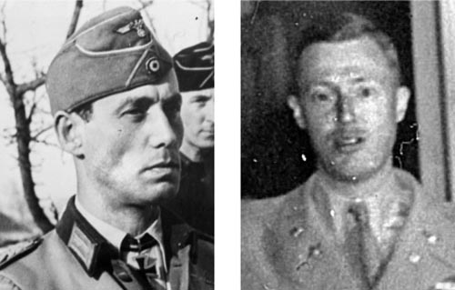German Maj. Gen. Meinrad von Lauchert, left, commanded the 2nd Panzer Division. Major William Desobry, right, held off an entire German division at Noville.