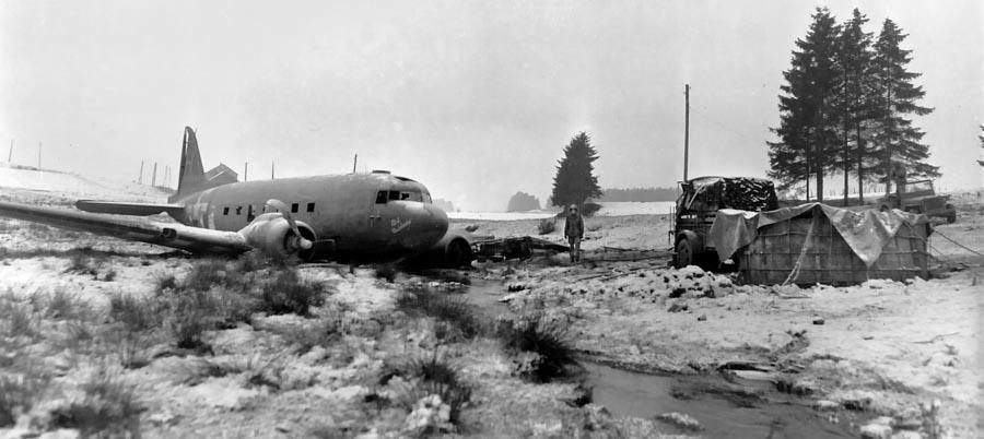 C-47 crashed outside Bastogne during the Battle of the Bulge