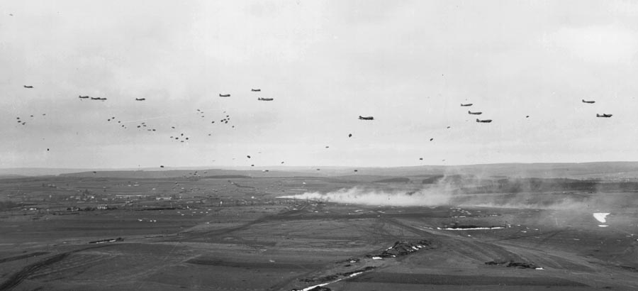 C-47s over Germany during operation Varsity