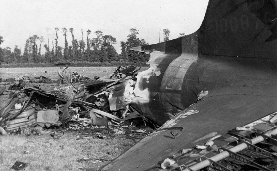 C-47 that crashed during D-Day.