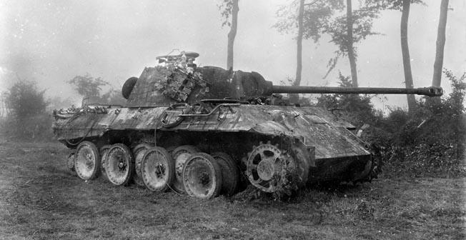 tank battle at Mortain