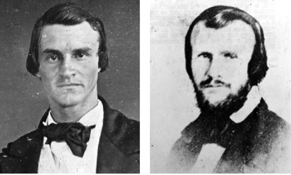 James McClintock, left, and Horace Hunley, right.