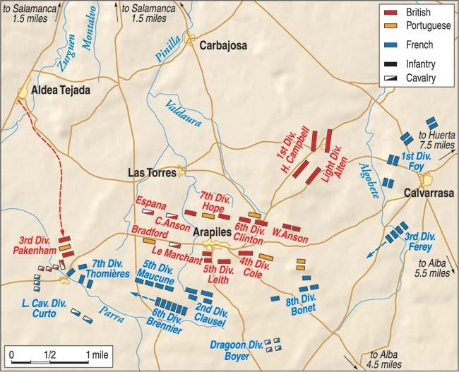 battle of Salamanca map