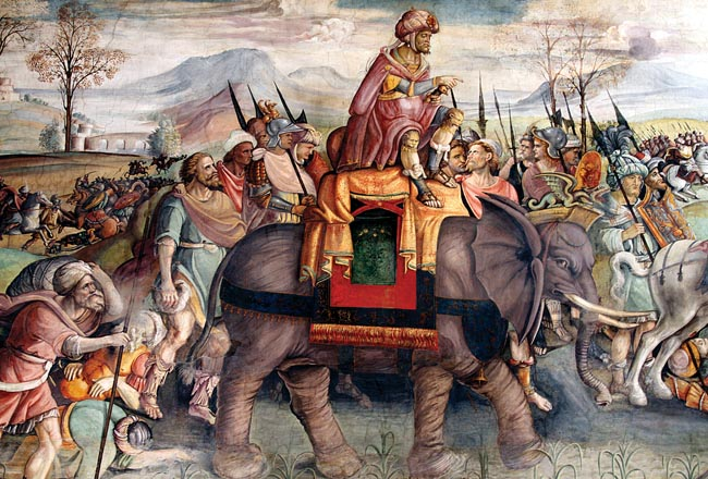 Hannibal on war elephant