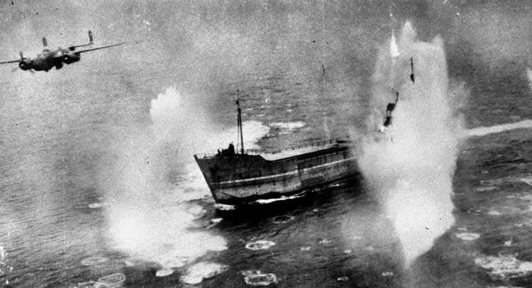 WWII skip bombing