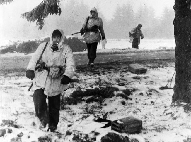 Panzer assault on Bastogne