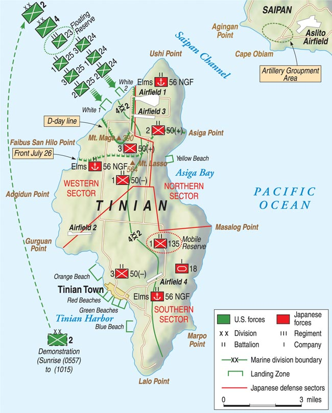 marine battle for tinian