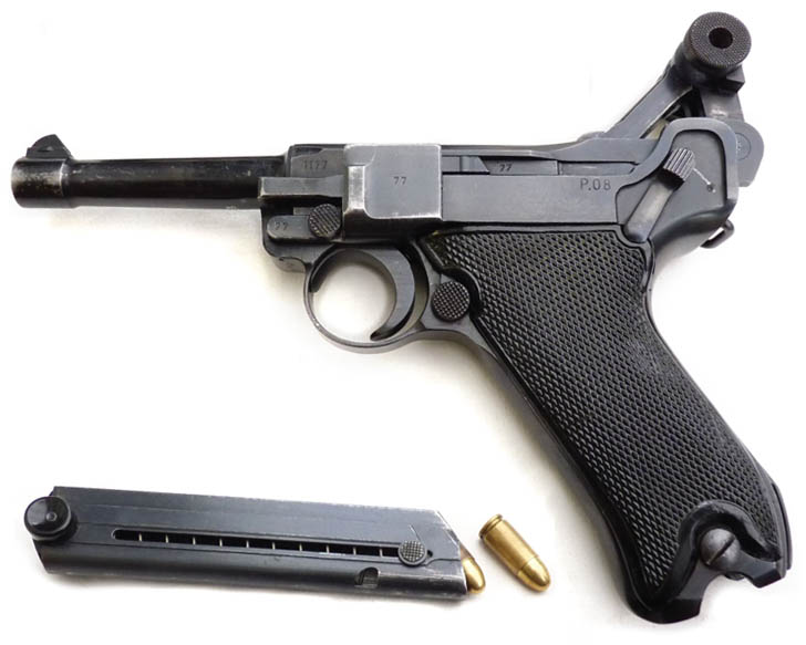 The easily recognized profile and mystique of the 9mm Luger pistol made it a highly prized souvenir among Allied troops.