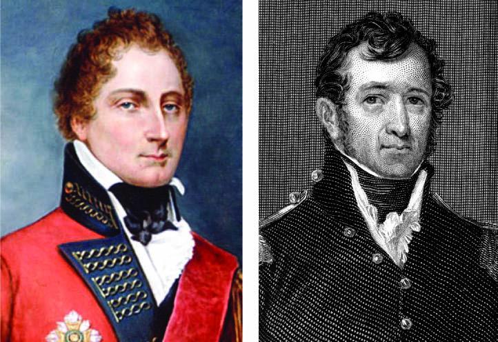 Lt. Gen. Gordon Drummond, left, and Maj. Gen. Jacob Brown