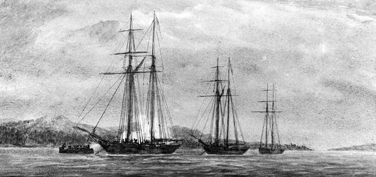 Three American schooners anchored on Lake Erie supported the defense of the fort, but the British raiders in bateaux succeeded in capturing two in mid-August. The successful naval sortie boosted British morale.